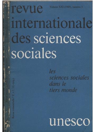 Revue Internationale des Sciences Sociales - Volume XXI - 1969 - Nº.03