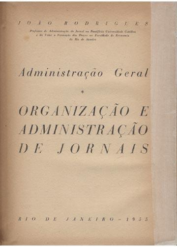 Organização e Administração de Jornais