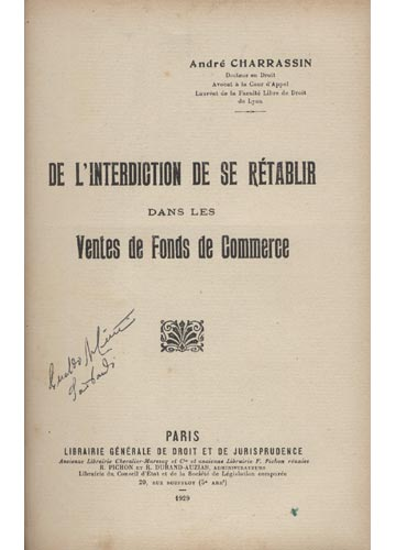 De L'interdiction de se Rétablir