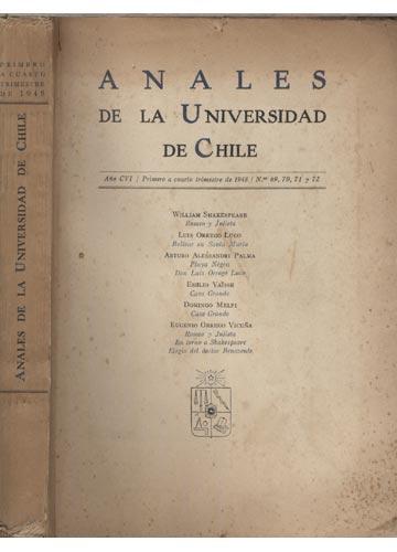 Anales de La Universidad de Chile - Primeiro a Cuarto Trimestre de 1948