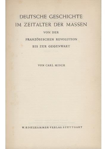 Deutsche Geschichte Im Zeitalter Der Massen