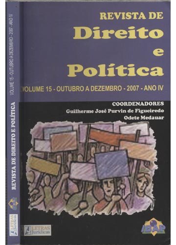 Revista de Direito e Política - Volume 15 - Outubro a Dezembro - 2007 - Ano IV