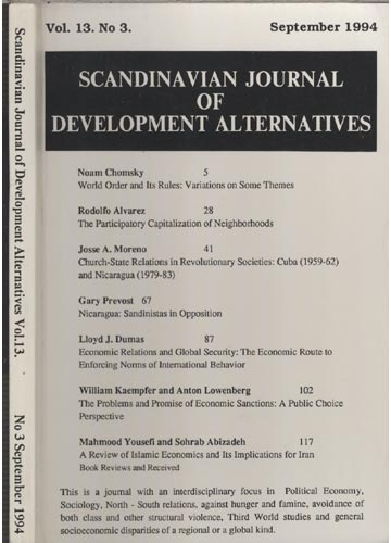 Scandinavian Journal of Development Alternatives - Volume 13 - Número 3