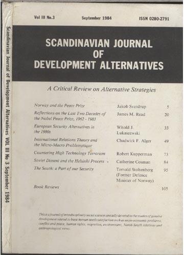 Scandinavian Journal of Development Alternatives - Volume 3 - Número 3