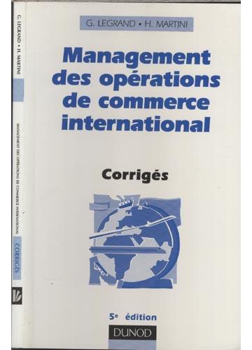 Management des Opérations de Commerce Internacional