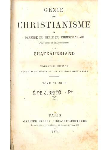 Le Genie du Christianisme - Tome Premiére