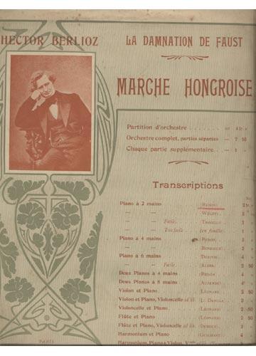 La Damnation de Faust / Marche Hongroise  (Partituras)