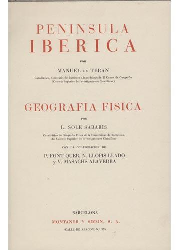 Geografia Universal - Volume X - Penísula Ibérica -  Espana Portugal