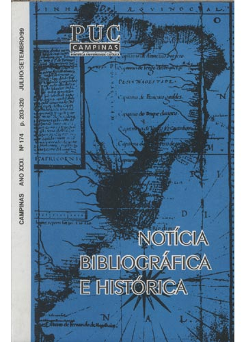 Notícia Bibliográfica e História - Ano XXXI - Nº 174