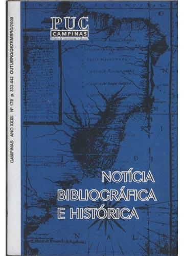 Notícia Bibliográfica e História - Ano XXXII - Nº 179
