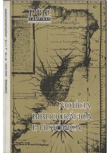 Notícia Bibliográfica e História - Ano XXXII - Nº 176