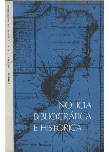 Notícia Bibliográfica e Histórica - Ano XXVII - Nº 158