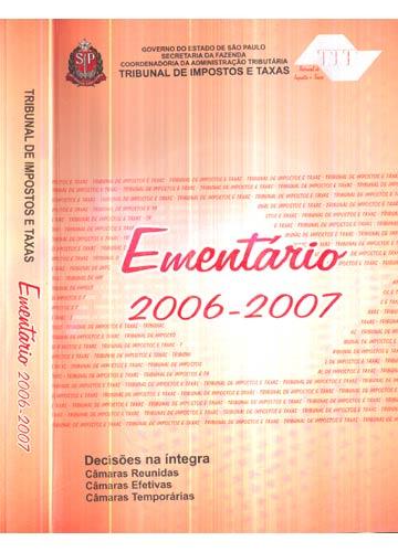Ementário 2006-2007 - Com CD-ROM