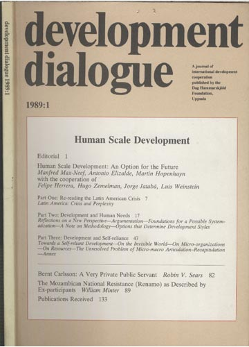 Development Dialogue 1989 - Nº.1