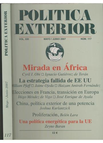 Politica Exterior - Nº.117 - Vol.XXI