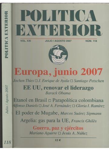 Politica Exterior - Julio / Agosto 2007 - Nº 118 - Vol.XXI