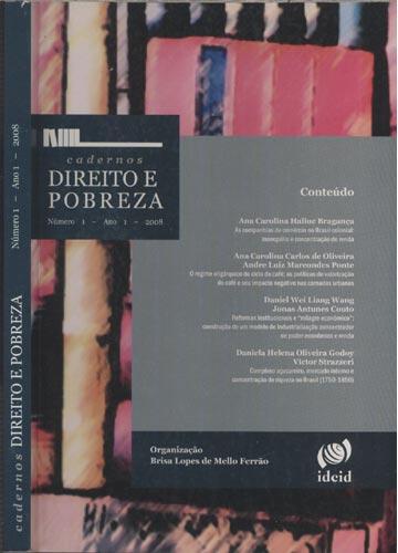 Cadernos - Direito e Pobreza - Ano 1 - Nº.01 - 2008