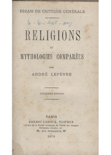 Religions et Mythologies Comparées