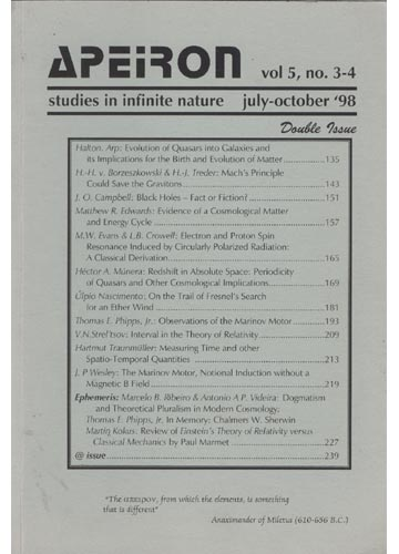 Apeiron - Volume 5 - Nº. 3-4 - Studies in Infinite Nature - 1998