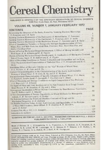 Cereal Chemistry - Volume 49