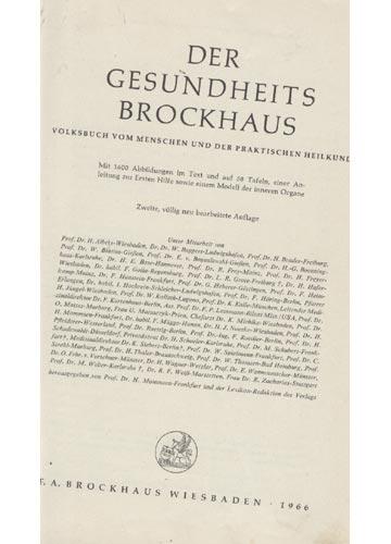 Der Gesundheits Brockhaus
