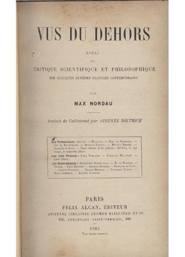 Vus du Dehors Essai de Critique - Vus du Dehors essai de Critique Scientifique et Philosophique