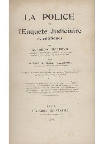 la Police et L'Enquête Judiciaire Scientifiques