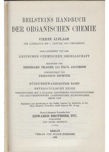 Organische Chemie - Band XXV - Heterocyclische Reihe