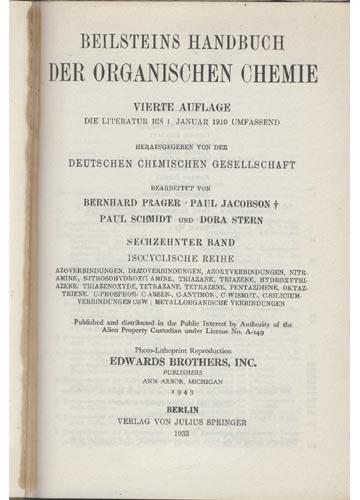 Beilstein Organische Chemie - Band XVI - Isocyclische