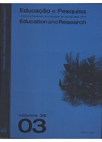 Educação e Pesquisa - Education and Research - Volume 38 - Nº.3