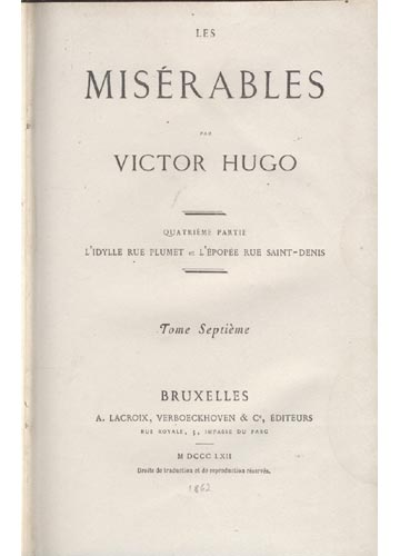 Les Misérables - Volume 7