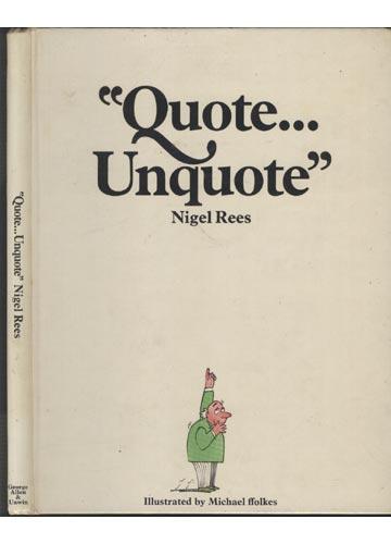 Quote...Unquote