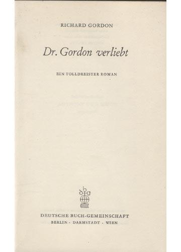 Doktor Gordon Verliebt