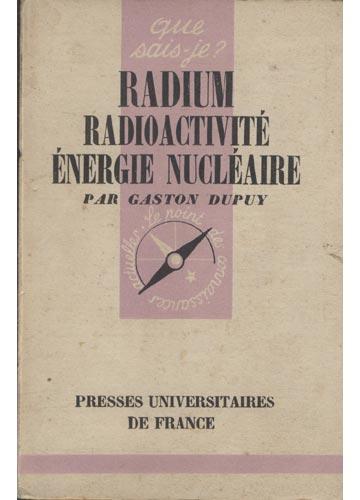 Radium Radioactivité Énergie Nucléaire