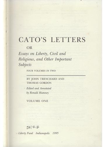 Cato's Letters - Volume 1