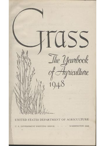 Grass The Yearbook of Agriculture 1948