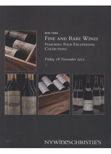 NYWines Christie's - New York - Fine and Rare Wines Featuring Four Exceptional Collections - 16 November 2012