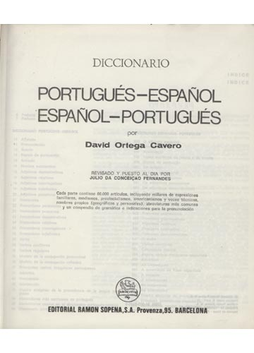 Diccionario-Dicionario - Amador - Portugués-Español / Espanhol-Português