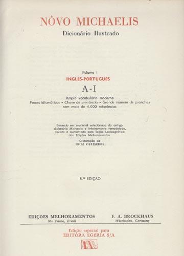 Nôvo Michaelis Dicionário Ilustrado - 4 Volumes