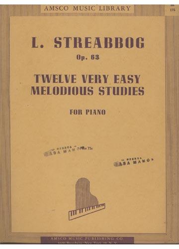 L. Streabbog Op. 63 - (Partituras)