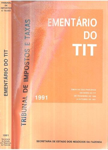 Ementário do Tit - Tribunal de Impostos e Taxas - 1991