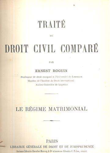 Droit Civil Comparé - Le Régime Matrimonial