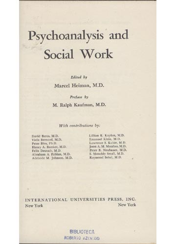 Psychoanalysis and Social Work