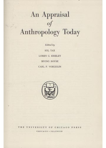 An Appraisal of Anthropology Today