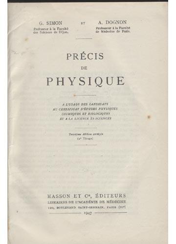 Précis de Physique