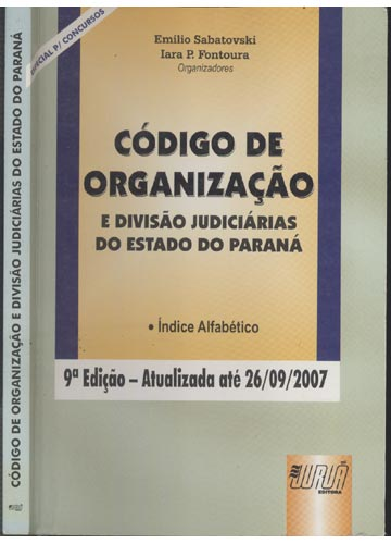 Código de Organização e Divisão Judiciárias do Estado do Paraná